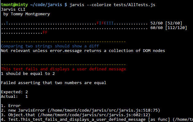 Jarvis on the command line